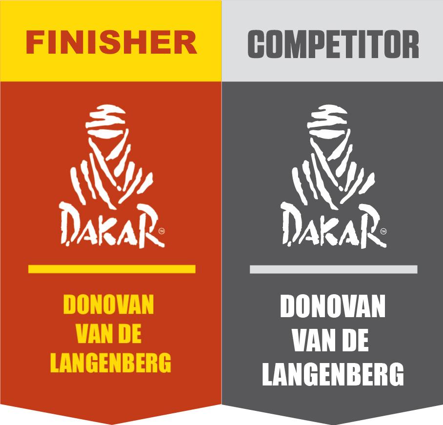 Donovan Van De Langenberg Dakar Rally